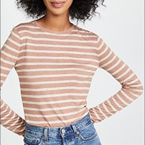Vince Supersoft Stripe Long Sleeve Layering Tee